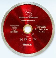 VD Continuous Rim Diamond Saw Blade Porcelain Ceramic Hard Tile 5 inch