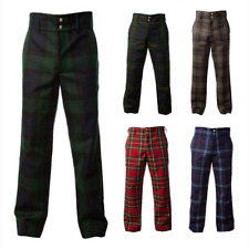 New Formal Golf Trousers Men's Cotton Tartan Trews - Various Tartans - All Sizes