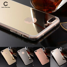 For iPhone 7/ 7 Plus Luxury Ultra Slim Mirror Back Silicone TPU Clear Case Cover
