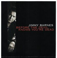 JIMMY BARNES Before The Devil Knows/Taking Time CD 2010 promo oz cold chisel