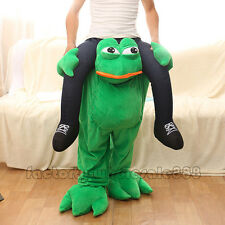 Halloween Piggy Back Frog Animal Mascot Fancy Dress Costume Carry Me Novelty
