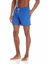 FAÇONNABLE Royal Blue Swim Trunks Shorts With Embroidery Anchor $175