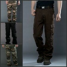 Men autumn Casual Military Army Cargo Camo Combat Work Pants Camouflage Trousers