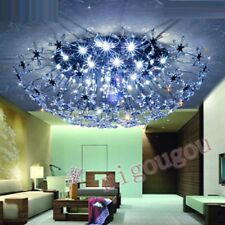New Modern Round Ceiling Chandelier Light w/ Egypt ASFOUR Crystal Floral Living