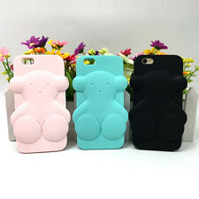 3D Cute Tous Bear Soft Silicone Case Cover Back Skin For iPhone5 6 6 7 Plus Gift