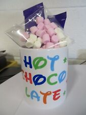 Mug + SPOON for Hot Chocolate Personalised + 2 sachets + marshmallows
