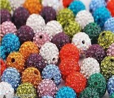 SHAMBALLA DISCO BALL B EADS - 10mm PAVE ROUND CLAY CRYSTAL BEADS