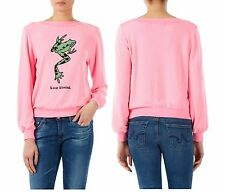NEW WILDFOX COUTURE KEEP KISSING PINK BAGGY BEACH JUMPER SWEATER SWEATSHIRT TOP