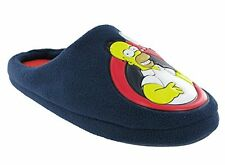 SIMPSONS MENS NOVELTY MULE SLIP ON SLIPPERS WITH RUBBER HARD SOLE 7-12 NEW
