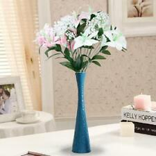 Artificial Lily with 12 Flowers Heads for Wedding Banquet Party Vase Decoration