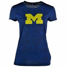 Michigan WOLVERINES Women's Clima School V-Neck T-Shirt by adidas NWT 40% off!
