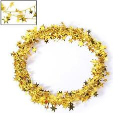 Classic Star Wire Foil Tinsel Garland Pretty Christmas Party Prop Decor 6 Color