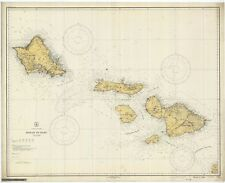 Hawaii to Oahu Historical Map 1929