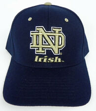 NOTRE DAME FIGHTING IRISH NAVY NCAA VINTAGE FITTED SIZED ZEPHYR DH CAP HAT NWT!