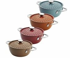 Rachael Ray Cucina 4.5 qt Hard Enamel Covered Casserole Round Nonstick Oven New