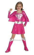 Girls Pink Supergirl Fancy Dress Costume Girls Pink Superhero Costumes