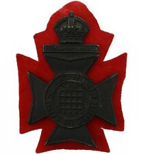 WW1 16th (Queens Westminster Rifles) Battalion County of London Cap Badge - PA18