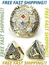 Pittsburgh Steelers Super Bowl Championship Ring 2008 Roethlisberger Size 8 - 14