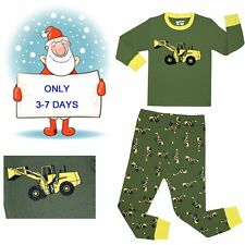 Toddler Baby Pajamas Boy's 'Christmas Snowman' Cotton Sleepwear Sets Long Sleeve