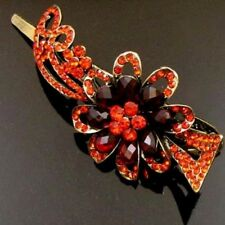 ADD'L Item FREE Shipping - Rhinestone Crystal Antiqued Flower Hair Clamp Clip