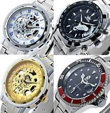 Luxury New Men's Stainless Skeleton Automatic Wrist Watch Mechanical Sport Dial