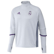 adidas Real Madrid FC 2016 - 2017 Long Sleeve Training Soccer Top White - Purple