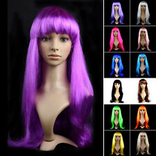 Fashion Women Long Straight Hair Wig Halloween Cosplay Costume Party Full Wigs