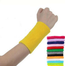 Sports Wrist Cotton Sweat Sweatbands Tennis Basketball Badminton Gym Wristband