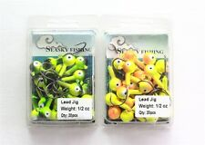 20 NEW 1/2 oz Round Jigheads Jigs Barb Seasky Fishing Lures Lot 2 Colors