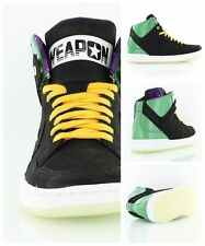 Converse Mid Weapon Invader Black and Green Wold Domination Skate Shoes NIB