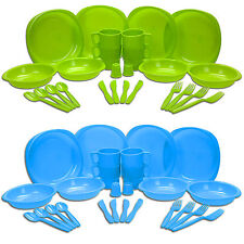 26 Piece Non-Shatter Picnic Camping BBQ Party Family Dinner Beach Dining Set