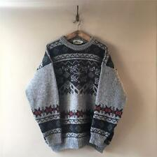 True Vintage Men's 1960s/70s/80s Scottish Chunky Knit Jumper Sweater Large