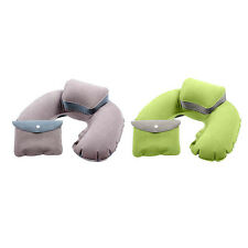 Hot Sale Inflatable Travel PVC Plane Pillow Rest Neck U Shaped Air Flocked