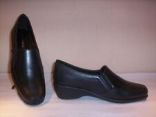 Classic shoes loafers Soft Breeze womens shoes casual wedge leather black 38
