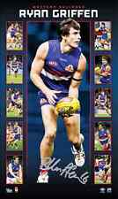 RYAN GRIFFEN WESTERN BULLDOGS HAND SIGNED LIMITED VERTARAMIC PRINT