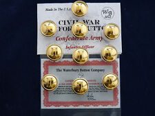 Confederate Army-Civil War Infantry Officer Buttons 10 Pieces NEW