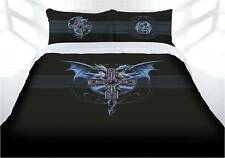 Anne Stokes Dragon Duo Gothic Fantasy Quilt Doona Cover Set - DOUBLE QUEEN KING