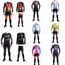 Cycling Jersey Long Sleeve T Shirt Trousers Long Pant Bicycle Sportwear Suits