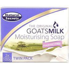 Natural Secrets Goats Milk Soap FRAGRANCE FREE 4, 8, 12 or 16 Bars