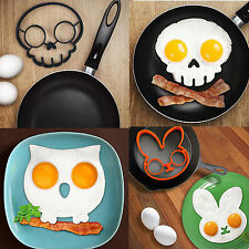 Breakfast Fried Egg Mold Silicone Pancake Egg Ring Shaper Funny Cooking Tool FL5