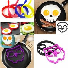 Fried Egg Mold Silicone Pancake Egg Ring Shaper Funny Cooking Tool Hot BE