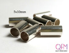 Crimp Beads Tube Spacer 5x10mm Sterling Silver 925 WHOLESALE