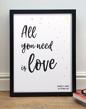 "The Beatles ""All You Need Is Love"" Personalised Poster Print 