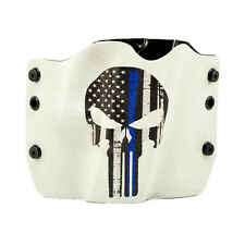 SW, Smith & Wesson, Punisher Blue Line Gray, OWB Kydex Gun Holsters.