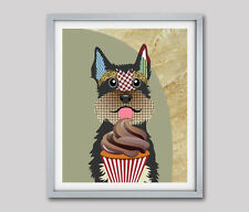 Art Print Schnauzer Dog Breed Pop Art Puppy Dog Lover Animal Poster Painting New