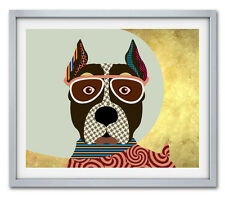 Art American Staffordshire Terrier Dog Art Print Poster Animal Decor Painting