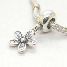 Authentic Sterling Silver DAISY SILVER DANGLE Charm Bead