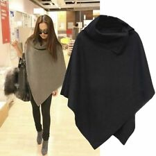 Womens Vogue Batwing Poncho Winter Cardigan Coat Outwear Jacket Cloak Cape Parka