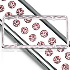 License 2 Bling Swarovski Pink Crystal Rhinestones License Plate Frame ONE SIZE