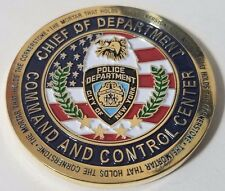Rare NYPD Chief Of Department Command And Control Center Challenge Coin